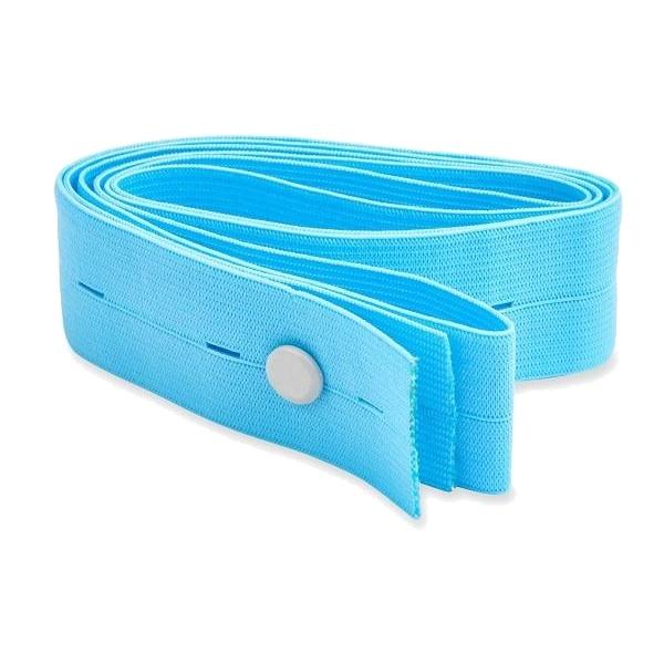 KTG / fetální pás (6×120 cm, modrý, knoflíkový)