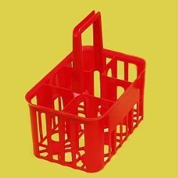 Přenosný košík na lahve PP, 6 pozic