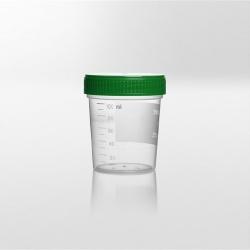 Nádobka PP, 125 ml, zelené víčko