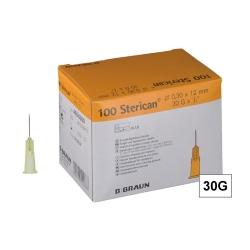 STERICAN 30G (0.3×12), LB, čirá (100 ks)