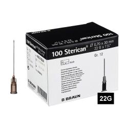 STERICAN 22G (0.7×30), LB, černá (100 ks)