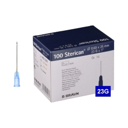 Jehla STERICAN 23G (0.6×25) modrá (100 ks)
