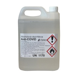 Dezinfekce na ruce podle receptury WHO - 5000 ml