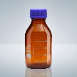 Láhev s GL uzávěrem, BORO-3.3, hnědá, 100 ml
