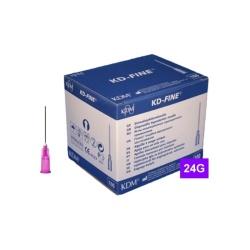 Jehla KD-FINE 24G (0.55×25), fialová (100 ks)