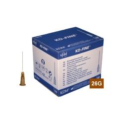 Jehla KD-FINE 26G (0.45×25), hnědá (100 ks)