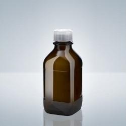 Láhev, závit A32, hnědé sklo, 500 ml