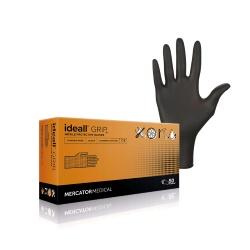 NITRYLEX Ideall Grip+ BLACK, 50 ks, L (8-9)