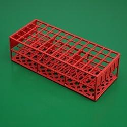 Stojánek červený pro 60 zkumavek do průměru 17 mm