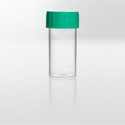 Nádobka PS, 40 ml, zelené víčko