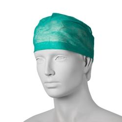 Chirurgická čepice s gumičkou (100 ks) - zelená