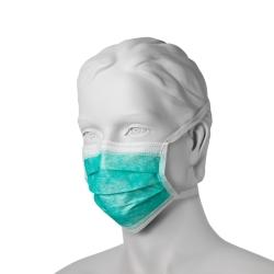 Chirurgická ústenka na úvazky (50 ks) - zelená