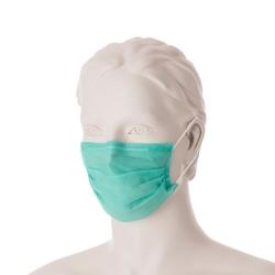 Chirurgická ústenka s gumičkami (50 ks) - zelená