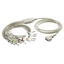 EKG kabel (BK1) vcelku, 10 svodů - banánky