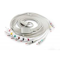 EKG kabel (NK2) vcelku, 10 svodů - banánky