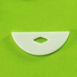 PTFE koncovka pro míchací hřídel, půlkruh: 65×25