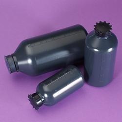 Láhev reagenční PE úzkohrdlá, šedá, 500 ml