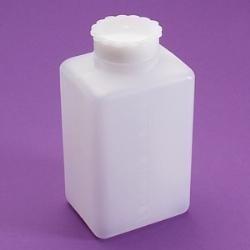 Láhev hranatá PE širokohrdlá, 100 ml